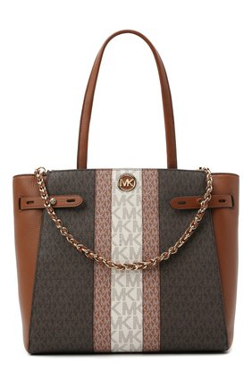 Женский сумка-тоут carmen MICHAEL MICHAEL KORS коричневого цвета, арт. 30T1GNMT30 | Фото 1