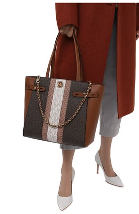 Женский сумка-тоут carmen MICHAEL MICHAEL KORS коричневого цвета, арт. 30T1GNMT30 | Фото 2