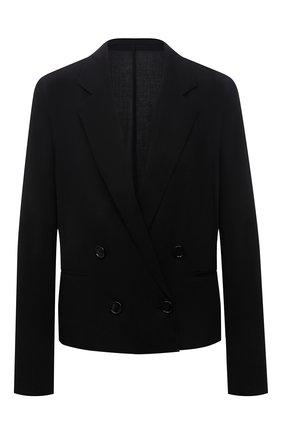 Женский шерстяной жакет BOSS черного цвета, арт. 50453534 | Фото 1