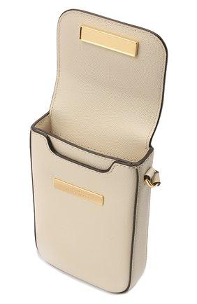 Кожаный чехол для iphone MARC JACOBS (THE) светло-бежевого цвета, арт. S118L01PF21   Фото 2
