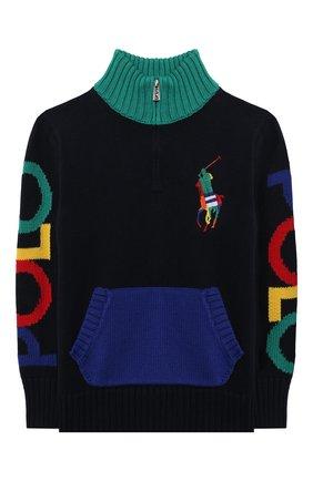 Детский хлопковый свитер POLO RALPH LAUREN разноцветного цвета, арт. 323846212 | Фото 1