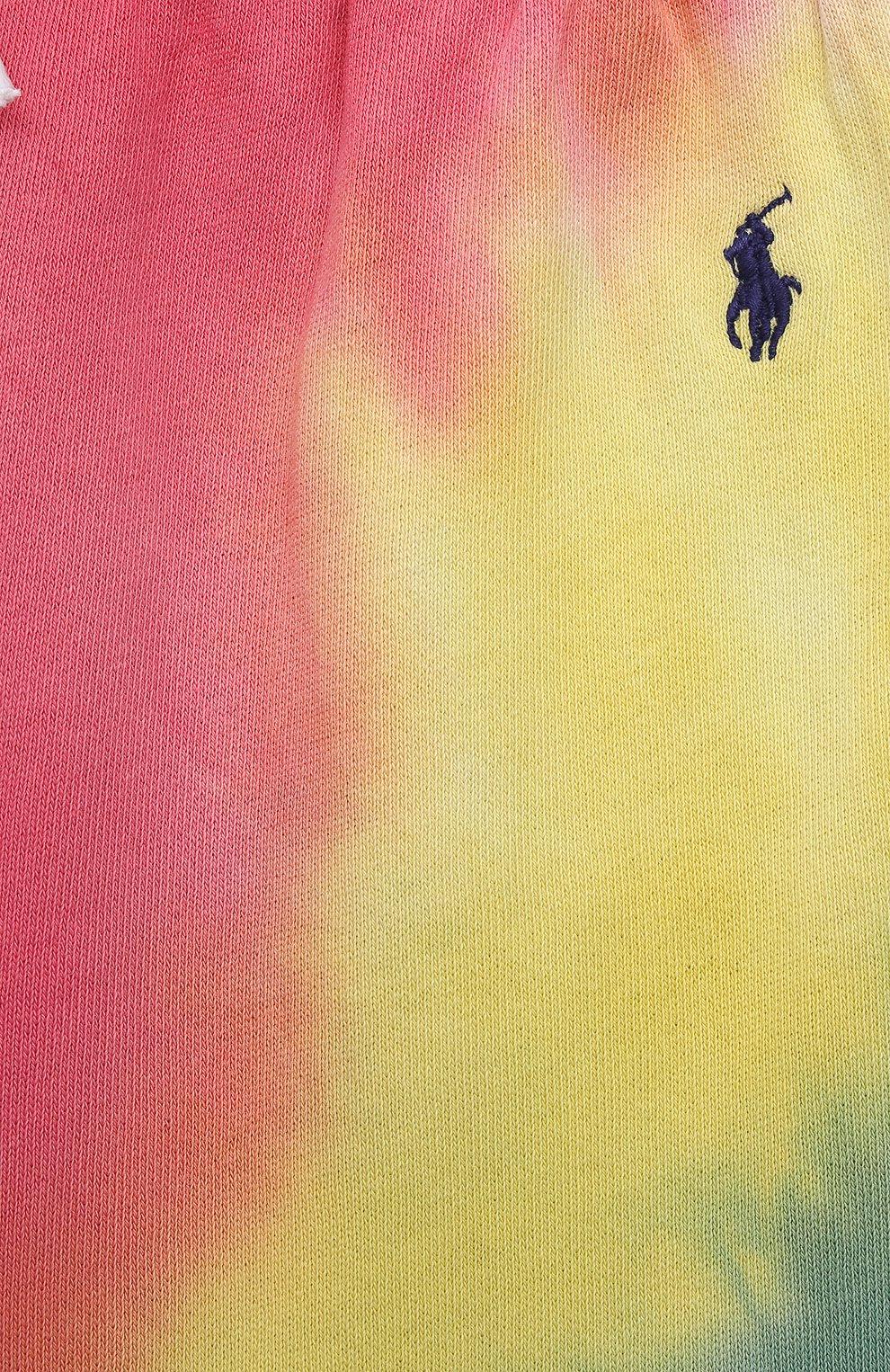Детские хлопковые джоггеры POLO RALPH LAUREN разноцветного цвета, арт. 313841393 | Фото 3