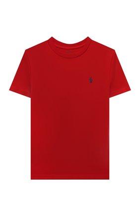 Детская хлопковая футболка POLO RALPH LAUREN красного цвета, арт. 323832904 | Фото 1