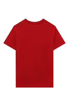 Детская хлопковая футболка POLO RALPH LAUREN красного цвета, арт. 323832904 | Фото 2