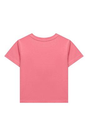 Детская хлопковая футболка POLO RALPH LAUREN розового цвета, арт. 312841390 | Фото 2