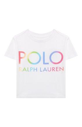 Детская хлопковая футболка POLO RALPH LAUREN белого цвета, арт. 312841391 | Фото 1