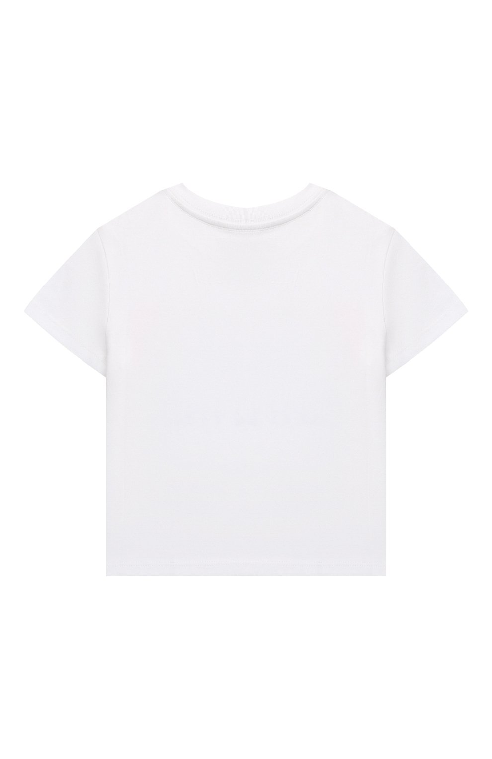 Детская хлопковая футболка POLO RALPH LAUREN белого цвета, арт. 312841391   Фото 2