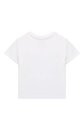 Детская хлопковая футболка POLO RALPH LAUREN белого цвета, арт. 312841391 | Фото 2