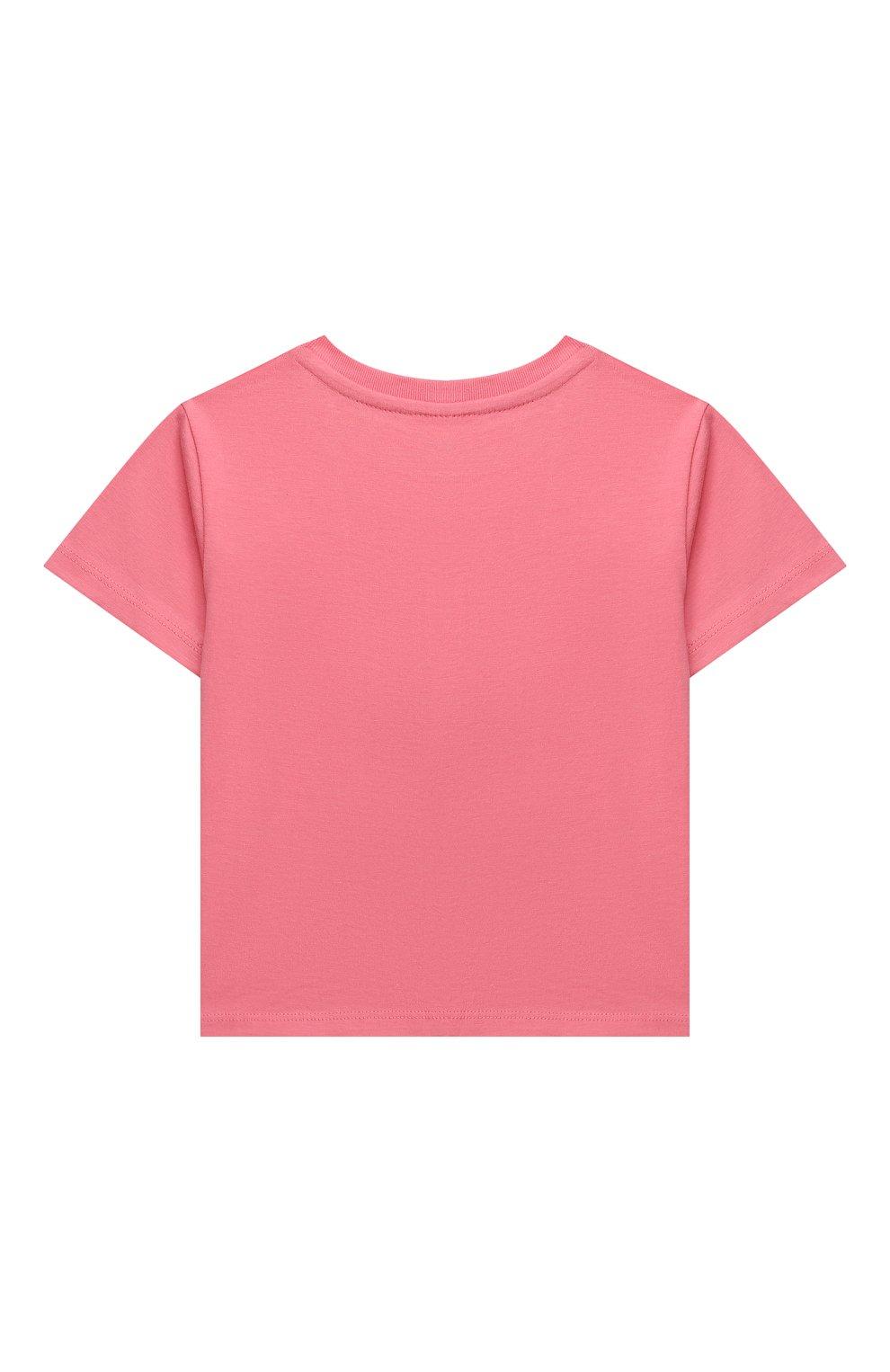 Детская хлопковая футболка POLO RALPH LAUREN розового цвета, арт. 311841390 | Фото 2