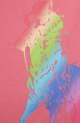 Детская хлопковая футболка POLO RALPH LAUREN розового цвета, арт. 311841390 | Фото 3