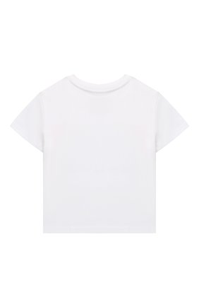 Детская хлопковая футболка POLO RALPH LAUREN белого цвета, арт. 311841391 | Фото 2
