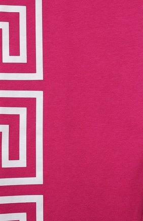 Детские хлопковые леггинсы VERSACE фуксия цвета, арт. 1000042/1A01409/4A-6A   Фото 3
