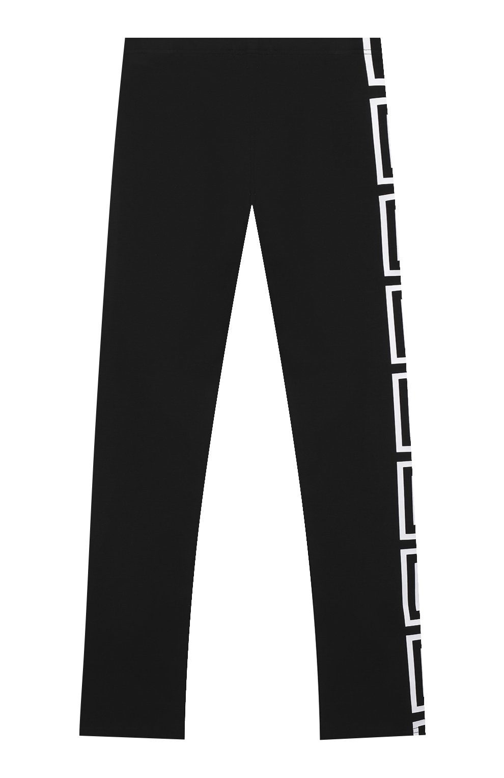 Детские хлопковые леггинсы VERSACE черного цвета, арт. 1000042/1A01409/4A-6A | Фото 2