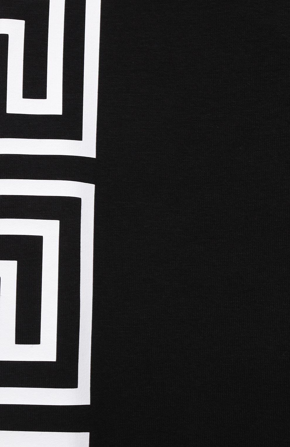 Детские хлопковые леггинсы VERSACE черного цвета, арт. 1000042/1A01409/4A-6A | Фото 3