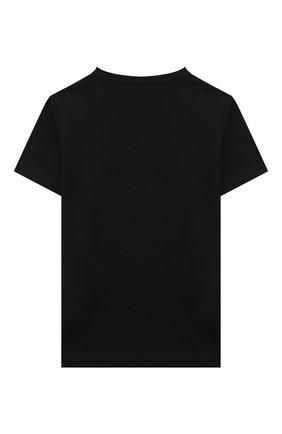 Детская хлопковая футболка VERSACE черного цвета, арт. 1000239/1A01431/4A-6A | Фото 2