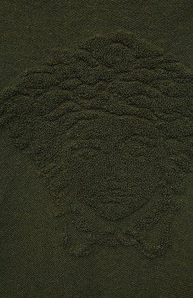 Детский худи из шерсти и кашемира VERSACE хаки цвета, арт. 1001640/1A01307/8A-14A | Фото 3