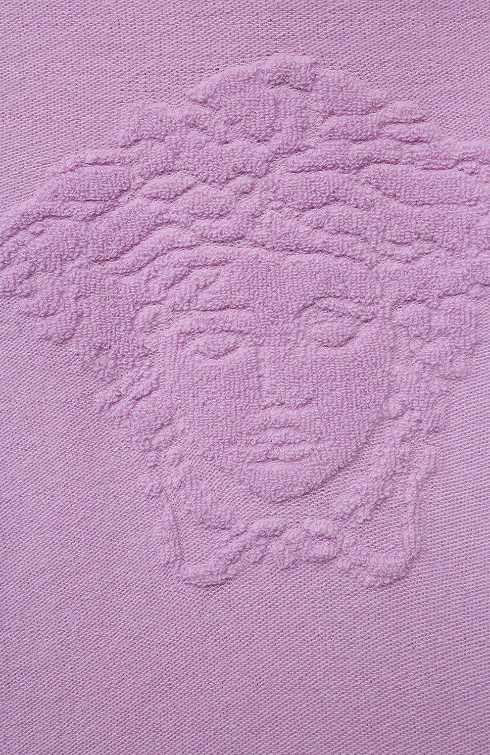 Детский худи из шерсти и кашемира VERSACE фиолетового цвета, арт. 1001640/1A01307/8A-14A   Фото 3