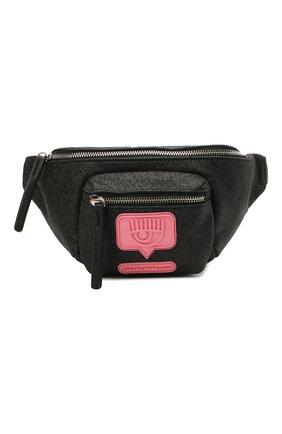 Детская поясная сумка CHIARA FERRAGNI черного цвета, арт. 21PE-CFBB015 | Фото 1