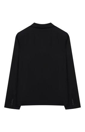 Детский шерстяной пиджак DAL LAGO темно-синего цвета, арт. N004/1011/13-16 | Фото 2 (Материал подклада: Вискоза; Материал внешний: Шерсть; Рукава: Длинные; Кросс-КТ: пиджак; Ростовка одежда: 13 - 15 лет | 158 см, 16 лет | 164 см)