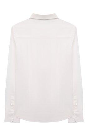 Детская хлопковая рубашка EMPORIO ARMANI белого цвета, арт. 6K4CJ1/1NZYZ | Фото 2