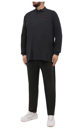 Мужское хлопковое поло PAUL&SHARK темно-серого цвета, арт. C0P1001/C00/3XL-6XL   Фото 2