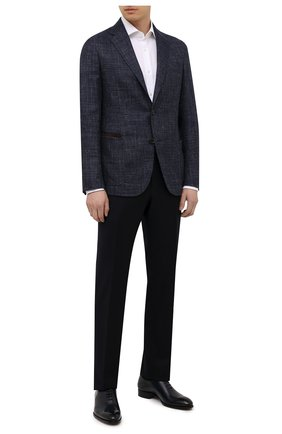 Мужская хлопковая сорочка BOSS белого цвета, арт. 50451171 | Фото 2 (Материал внешний: Хлопок; Длина (для топов): Стандартные; Случай: Формальный; Стили: Классический; Рубашки М: Regular Fit; Рукава: Длинные)