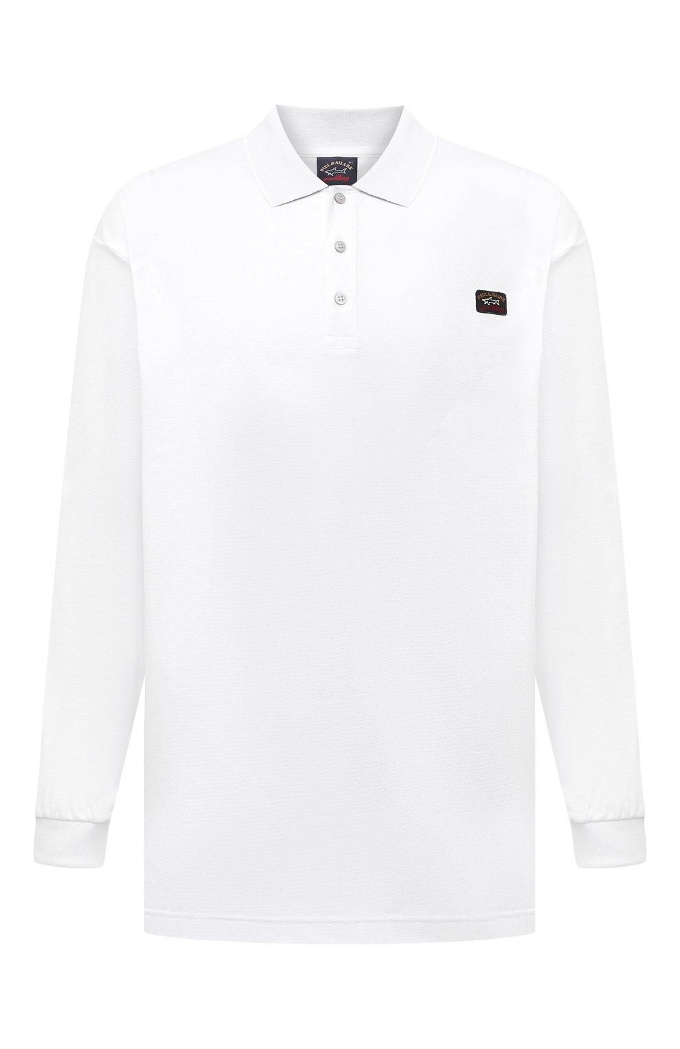 Мужское хлопковое поло PAUL&SHARK белого цвета, арт. 11311729/C00/3XL-6XL   Фото 1