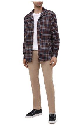 Мужская хлопковая рубашка KITON коричневого цвета, арт. UMCMARH0786704 | Фото 2