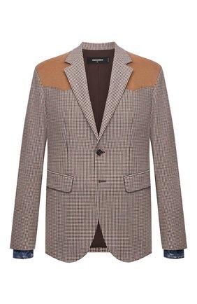 Мужской пиджак из шерсти и вискозы DSQUARED2 разноцветного цвета, арт. S74BN1083/S54011 | Фото 1