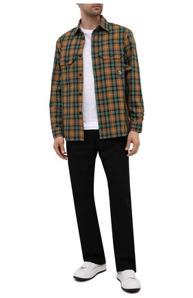Мужская хлопковая рубашка DIESEL разноцветного цвета, арт. A02685/0HCAT | Фото 2