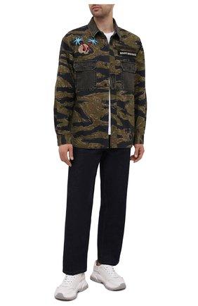 Мужская хлопковая рубашка DIESEL темно-зеленого цвета, арт. A02694/0PBAX | Фото 2