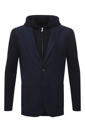 Мужской шерстяной пиджак ELEVENTY темно-синего цвета, арт. D70GIAD04 TES0D140 | Фото 1