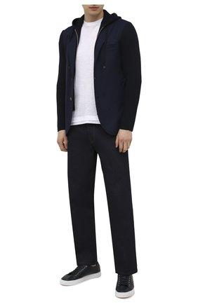 Мужской шерстяной пиджак ELEVENTY темно-синего цвета, арт. D70GIAD04 TES0D140 | Фото 2