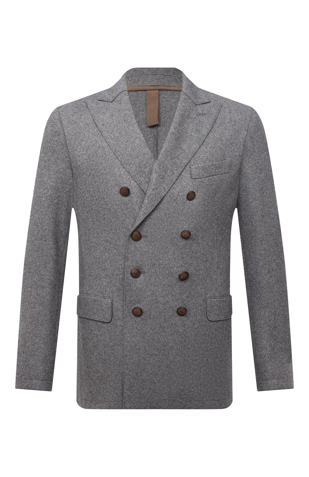 Мужской шерстяной пиджак ELEVENTY темно-серого цвета, арт. D70GIAD06 JAC24018 | Фото 1 (Материал внешний: Шерсть; Рукава: Длинные; Случай: Повседневный; Длина (для топов): Стандартные; Пиджаки М: Приталенный; Стили: Кэжуэл)
