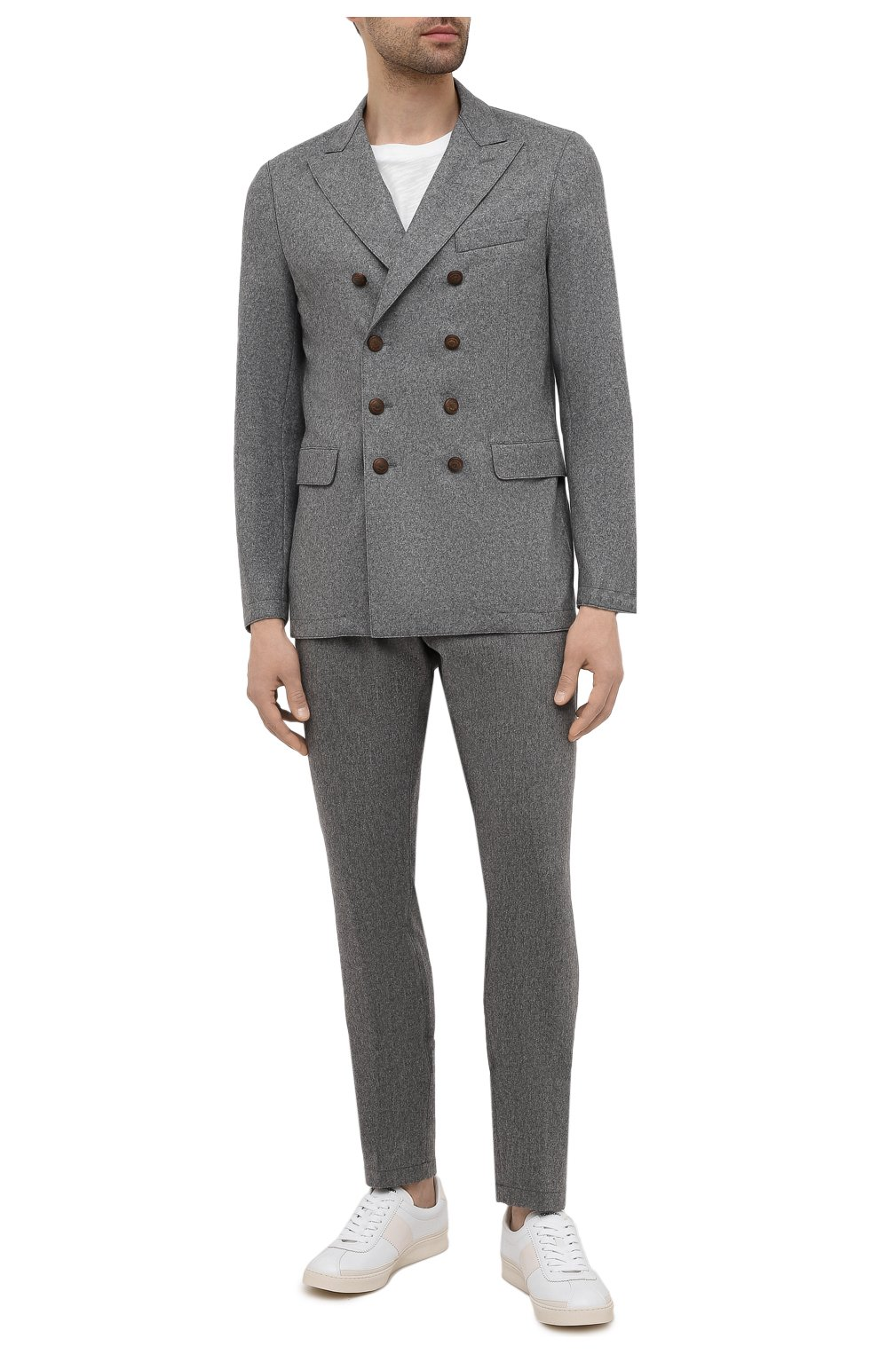 Мужской шерстяной пиджак ELEVENTY темно-серого цвета, арт. D70GIAD06 JAC24018 | Фото 2 (Материал внешний: Шерсть; Рукава: Длинные; Случай: Повседневный; Длина (для топов): Стандартные; Пиджаки М: Приталенный; Стили: Кэжуэл)