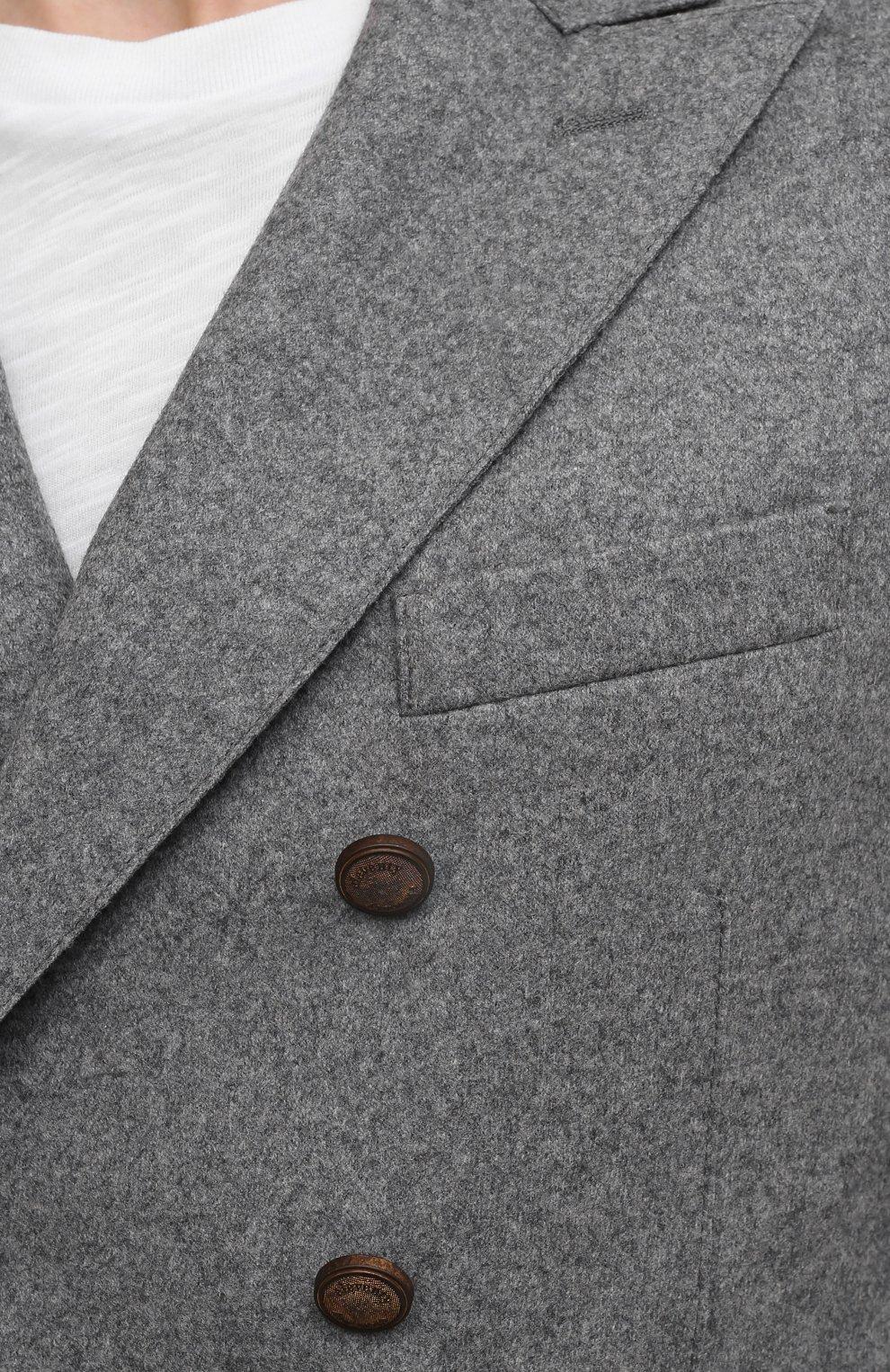 Мужской шерстяной пиджак ELEVENTY темно-серого цвета, арт. D70GIAD06 JAC24018 | Фото 5 (Материал внешний: Шерсть; Рукава: Длинные; Случай: Повседневный; Длина (для топов): Стандартные; Пиджаки М: Приталенный; Стили: Кэжуэл)