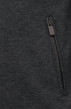 Мужской кардиган из хлопка и кашемира CANALI серого цвета, арт. T0706/MX01298 | Фото 5