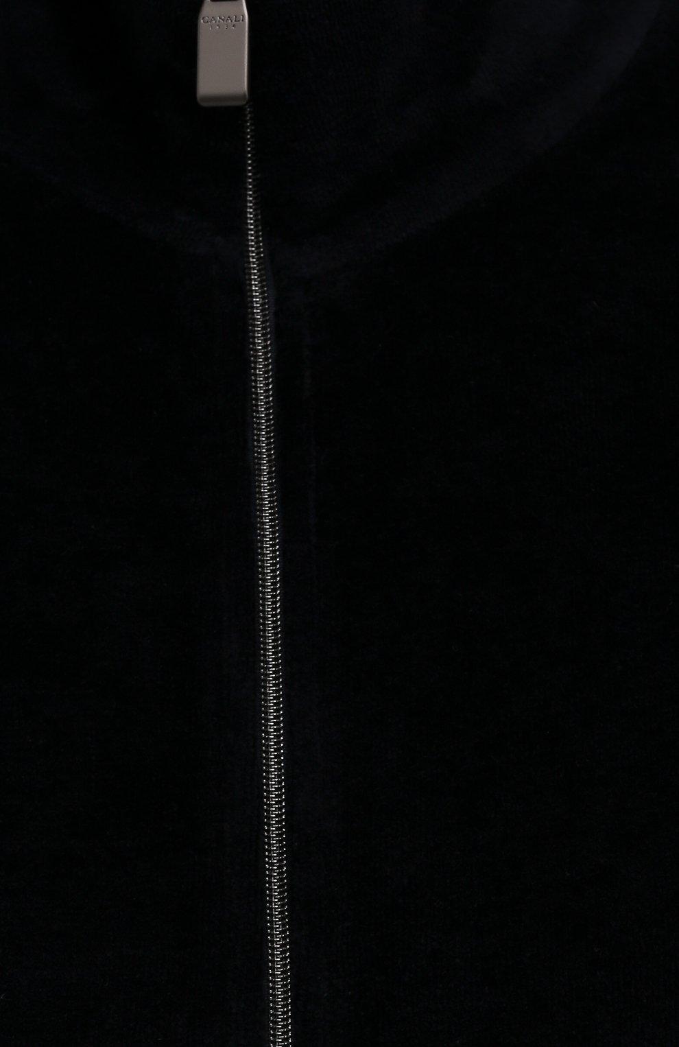 Мужской хлопковая толстовка CANALI темно-синего цвета, арт. T0700/MJ01283 | Фото 5