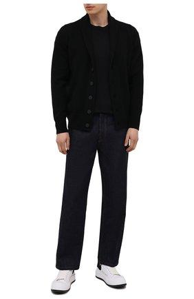 Мужской кардиган из шерсти и кашемира JOHN SMEDLEY черного цвета, арт. CULLEN | Фото 2