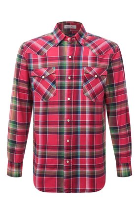 Мужская хлопковая рубашка POLO RALPH LAUREN розового цвета, арт. 710835520/5341 | Фото 1