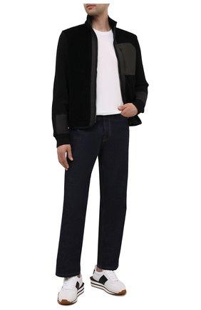 Мужской комбинированная толстовка Z ZEGNA черного цвета, арт. VY498/ZZT831 | Фото 2 (Рукава: Длинные; Материал внешний: Шерсть; Материал подклада: Синтетический материал; Длина (для топов): Стандартные; Мужское Кросс-КТ: Толстовка-одежда; Стили: Кэжуэл)
