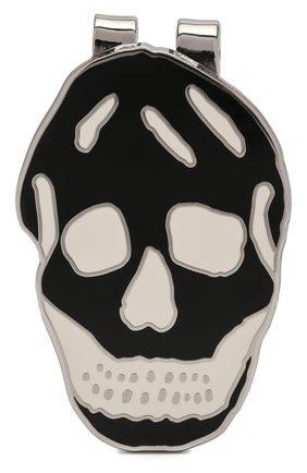 Мужской зажим для денег ALEXANDER MCQUEEN черно-белого цвета, арт. 554705/J163N | Фото 1