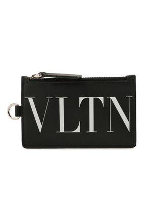 Мужской кожаный футляр для кредитных карт VALENTINO черного цвета, арт. WY2P0R61/JBS | Фото 1