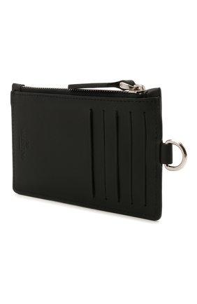 Мужской кожаный футляр для кредитных карт VALENTINO черного цвета, арт. WY2P0R61/JBS | Фото 2
