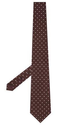 Мужской шелковый галстук TOM FORD бордового цвета, арт. 2TF10/XTF   Фото 2