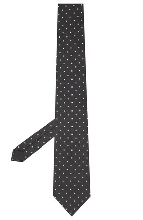 Мужской шелковый галстук TOM FORD темно-синего цвета, арт. 2TF10/XTF | Фото 2 (Материал: Текстиль, Шелк; Принт: С принтом)