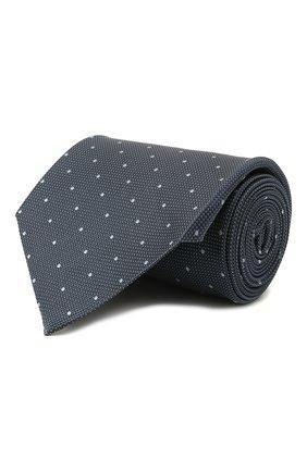 Мужской шелковый галстук TOM FORD синего цвета, арт. 2TF09/XTF | Фото 1 (Материал: Текстиль, Шелк; Принт: С принтом)