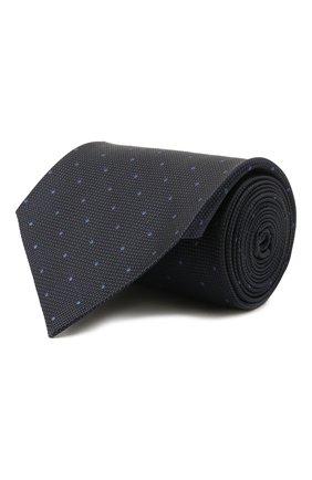 Мужской шелковый галстук TOM FORD темно-синего цвета, арт. 2TF09/XTF | Фото 1 (Материал: Текстиль, Шелк; Принт: С принтом)