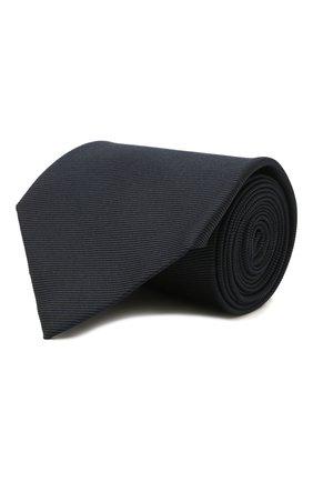 Мужской шелковый галстук TOM FORD темно-синего цвета, арт. 2TF04/XTF | Фото 1 (Материал: Текстиль; Принт: Без принта)