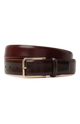 Мужской кожаный ремень SANTONI бордового цвета, арт. CM35VS003B91HVVDQ67 | Фото 1
